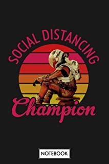 The Martian Social Distancing Champion Notebook: 6x9 120 Pages, Journal, Matte Finish Cover, Lined College Ruled Paper, Di...