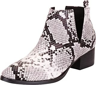 Best black and white animal print ankle boots Reviews
