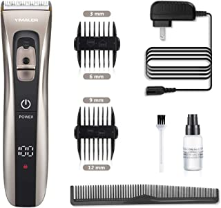 Hair Clippers, Yimaler Cordless Hair Trimmer for Men Electric Hair Cutting Kit Shaver with USB Rechargeable Waterproof Wireless LED Display