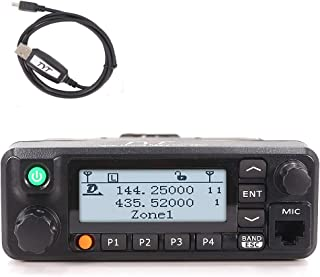 TYT MD-9600 Transceiver, 50W Mobile DMR Car Ham Radio, Digital 136-174 & 400-470 MHz Dual Band Two-Way Radio Transceiver 3000 Channels 50/45/25W DMR GPS Fcuntion Available