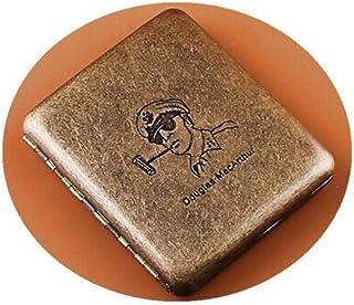 DSLE Cigarette Case, 20 Packs Of Portable Men's Stainless Steel Personality Retro Gold Is A Cigarette Holder, Cigarette Bo...