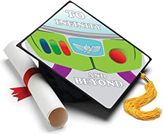 Tassel Toppers to Inifinity and Beyond Grad Cap Decorated Grad Caps - Toy Story