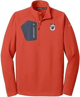 Cherrybrook Cayenne Orange Dog Breed Embroidered Eddie Bauer Mens Half Zip Performance Fleece Jacket (All Breeds)