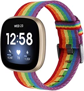 【Amazon限定ブランド】Wearlizer Fitbit Versa3 バンド/Fitbit Senseバンド Fitbit Versa3/Fitbit Senseに対応 Fitbit Versa3 カンバスバンド ナイロン製 Fitbi...
