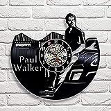 Reloj de pared de vinilo creativo reloj de pared espada Samurai reloj de pared de vinilo reloj de pared de cuarzo reloj de pared-Senza_luce_LED