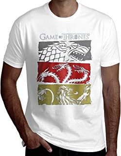 7b5951fcf LucyEve Customized Game of Thrones 3 House Symbols T-Shirt T Shirts Short  Sleeve for