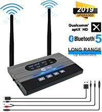 Bluetooth 5.0 Transmitter Receiver, JYCTRONE 3-in-1 Wireless Bluetooth Audio Receiver aptX HD Low Latency, 265FT Long Range Bluetooth Adapter Optical RCA AUX 3.5mm for Home Stereo/TV/PC/Speaker