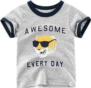 Barbare T-Shirt Gar/çon d/ét/é Enfant B/éb/é Nouveau-n/é Les Loisirs Col Rond Manche Courte Lettre Impression Tops Chemise Haut Sweatshirt Blouse Pullover Streetwear Pas Che pour 0-10Ans