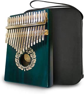 Kalimba thumb piano 17 keys, acacia wood, finger piano built-in waterproof protection box, easy to learn portable musical instrument, the best gift for adults and children