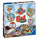 Ravensburger Disney Toy Story 4 - 6 in 1 Classic Games Compendium Set for Kids Age 3 Years and Up Games: Bingo, Memory, Dominoes, Snakes & Ladders, Checkers and Cards