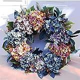 LMSDALAO Hortensias corona boda corona flor Navidad guirnalda hogar puerta decoración Dropship