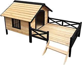 Dog Kennel Kennels Outdoor Wooden Pet House Puppy Extra Large XXL Outside i.Pet