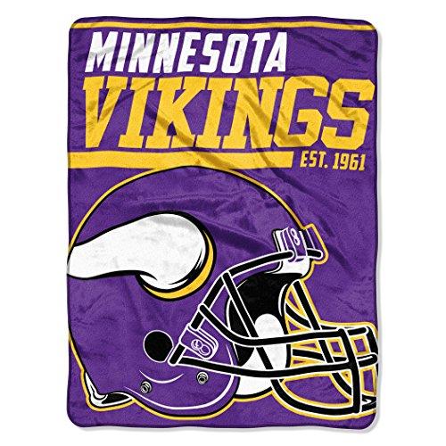 Officially Licensed NFL Minnesota Vikings '40 Yard Dash' Micro Raschel Throw Blanket, 46' x 60', Multi Color