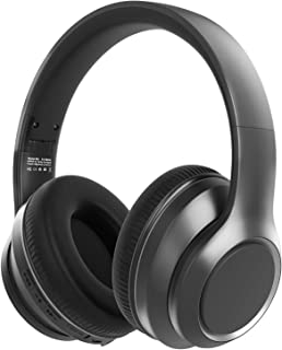 Hybrid Active Noise Cancelling Headphones-Wingstime, Bluetooth 5.0 Over Ear Wireless Wired Headset with Hi-Fi Deep Bass, 3...