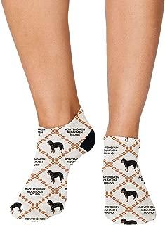 Montenegrin Mountain Hound Dog Pattern #1 Men-Women Adult Ankle Socks