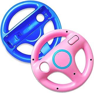 SONVIEE 2 Pack Steering Wheel for Racing Game Steering Wheel (Blue&Pink)