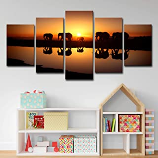 Modern Wall Art Canvas Prints Landscape Nature Scenery Painting Artwork Sunset Mountain Picture Framed Ready to Hang for L...
