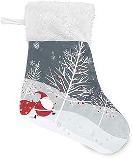 YYIXING 6 قطع جوارب عيد الميلاد شخصية ديلوكس ندفة الثلج الأب شجرة عيد الميلاد الديكور (الحجم: 7.87x5.5 inx4)