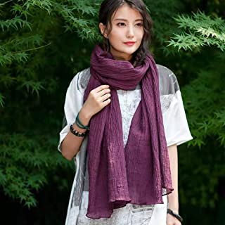 HZWSilk Scarf for Women's, Ladies Lightweight Fashion Scarves Solid Color Neckerchief Luxurious Touch to Any Outfit Neckerchief Shawl Length 175CM Or More