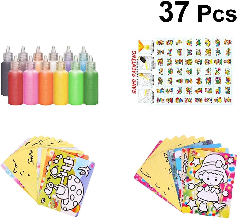 YeahiBaby 37 stücke Sand Kunst für Kinder Pädagogisches Sand Kunst Sand Malerei Set Frühe Pädagogische Spielzeug für Kinder Kinder DIY Handwerk B07L97WNRH | Stilvoll und lustig