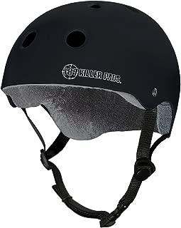 187 Killer Pads Pro Skate Helmet with Sweatsaver Liner (Black Matte,  Small)