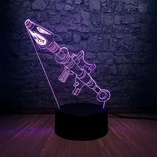 Lámpara de mesa 3D creativa Juego de regalo de juguete para niños Rol Blub Color Luz de noche Ilusión LED Decoración del hogar n Gift Boy Toy Base