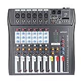ammoon 120S-USB 12 Canales Mic Mesa de Mezclas Mezclador de Audio 3 Bandas de Ecualización XLR USB...