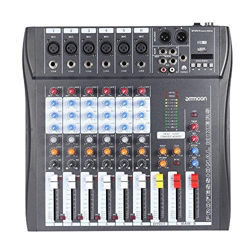 Mezclador de Audio Ammoon 60S-USB | Mezclador de seis canales con conexión USB.