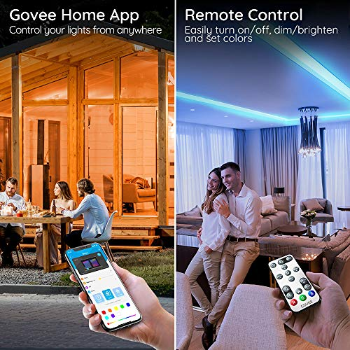 Govee RGB LED Strip Lights, Works with Alexa, Google Assistant, App Control for Room, 16.4 Feet 6