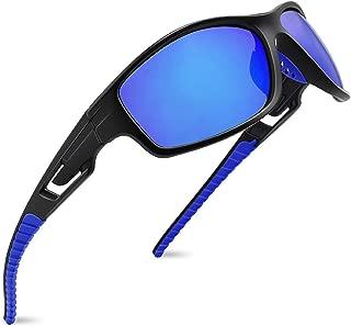 MAXJULI Polarized Sports Sunglasses for Men Women Running Fishing Baseball Driving MJ8013