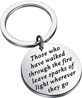 WSNANG Coworker Leaving Gifts Those Who Have Walked Through The Fire Leave Sparks of Light Wherever They Go Keychain Goodb...