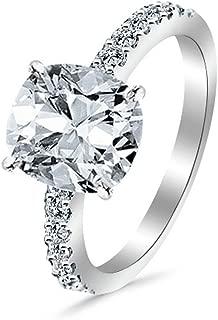 Certified 3 Carat Pear Trellis Diamond Engagement  Wedding Ring 14k White gold