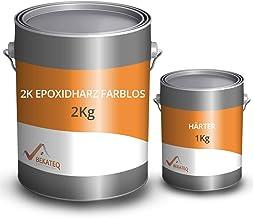 BEKATEQ BK-400EP 2K epoxyhars, 3 kg vloercoating voor afdichting en grondlaag voor buiten en binnen, voor garagevloeren, w...