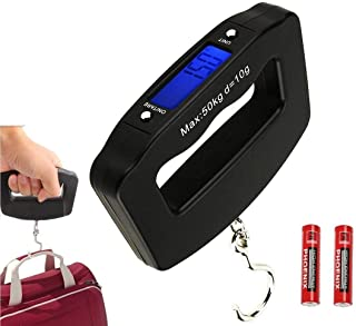 Rubik Digital Luggage Scale, 50kg/110lbMax Hanging Baggage Scale with Backlight LCD Display, Portable Bag Suitcase Weighin...