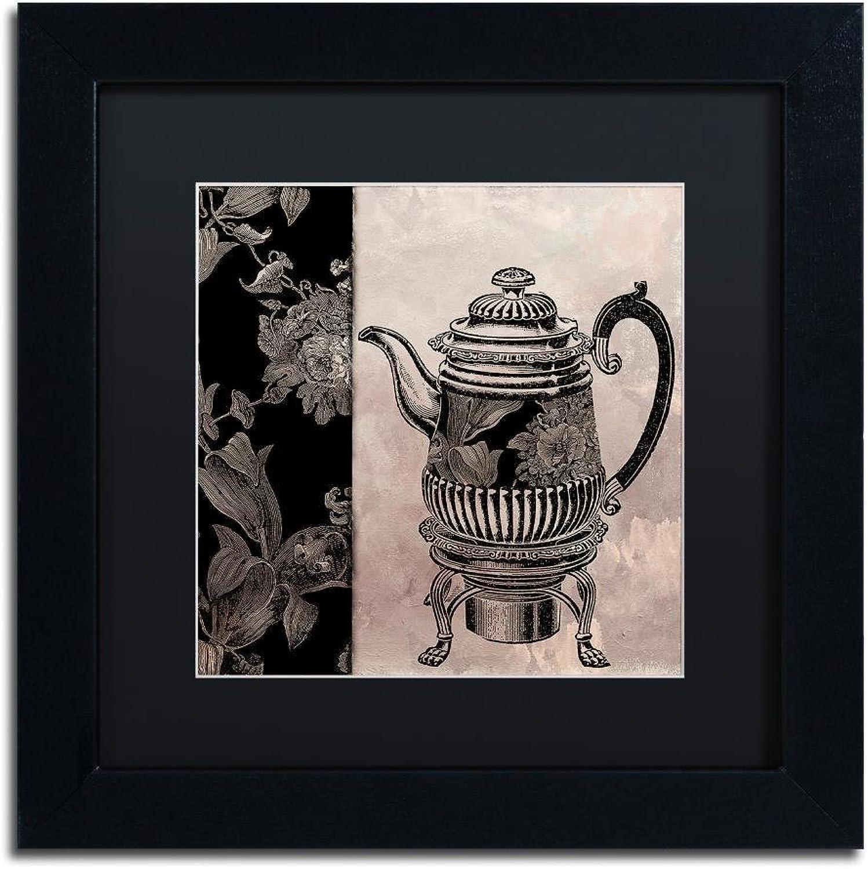 Trademark Fine Art Victorian Table III by color Bakery, Black Matte, Black Frame 11x11, Wall Art