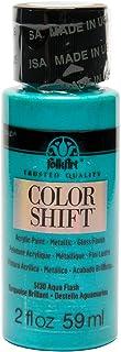 FolkArt Color Shift Acrylic Paint in Assorted Colors (2 Ounce), 5130 Aqua Flash