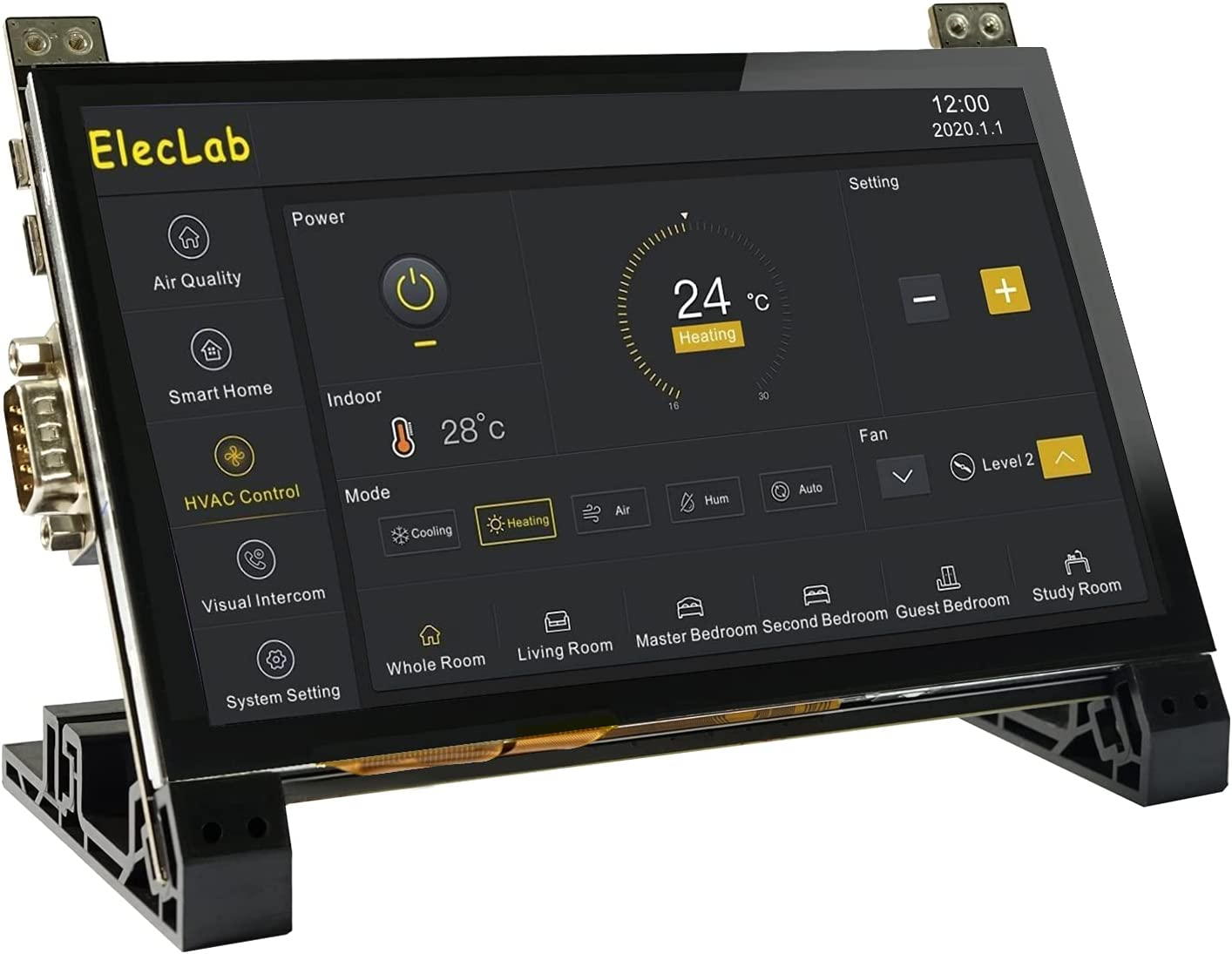 ElecLab Raspberry Pi Touchscreen Monitor 7 Inch DSI Capacitive LCD Display 800x480 RS232/RS485 Speaker Bracket for Raspberry Pi 4B 3B+ 3B 3A+ 2B B+