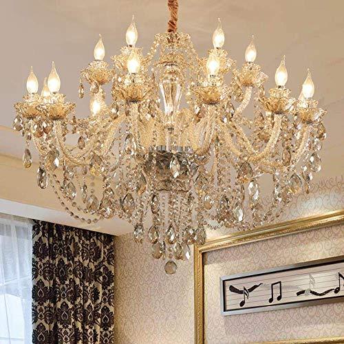 HLL Lámpara de araña, estilo europeo para sala de estar, lámpara de araña para restaurante, lámpara de dormitorio, lámpara de pared de 2 cabezas.
