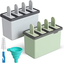 Kootek Popsicle Molds Sets 8 Ice Pop Makers Reusable Ice Cream Mold - Dishwasher Safe, Durable DIY Popsicles Tray Holders ...