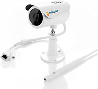TriVision Outdoor Surveillance Camera System with WiFi and POE, HD 1080P, IP66 Waterproof, IR Night Vision, Motion Activated Recording with SD Card, FTP, Dropbox, Google Drive Cloud Storage