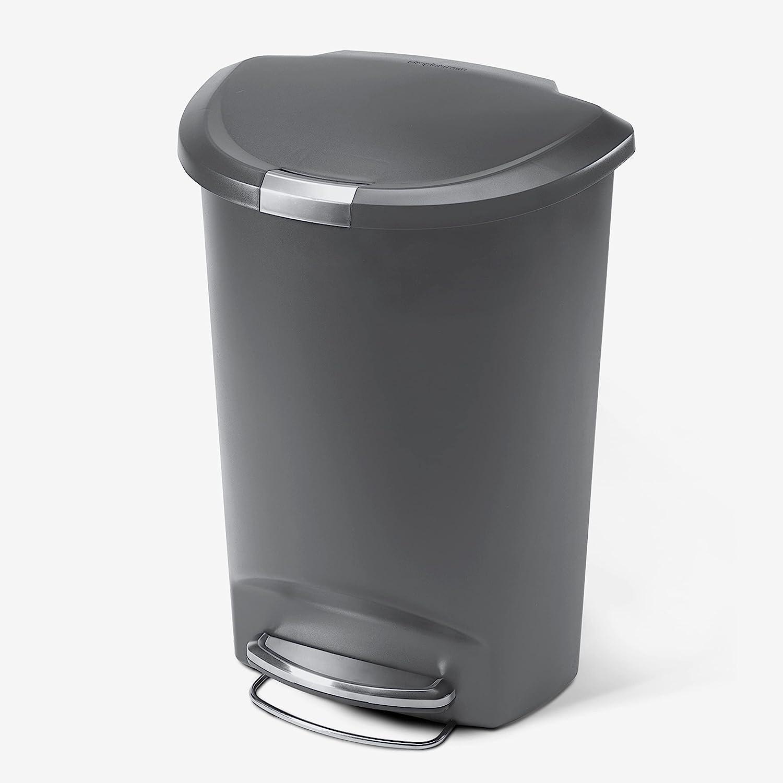 simplehuman 50 Liter 13 Gallon Chicago Mall Store Kitchen C Semi-Round Trash Step