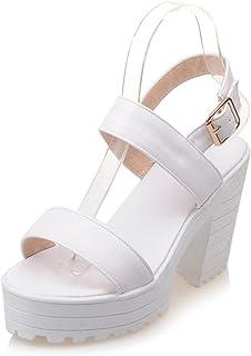 ZackZK Fashion Wedges Platform Sandals Women Black and White Open Toe high Heels Shoes