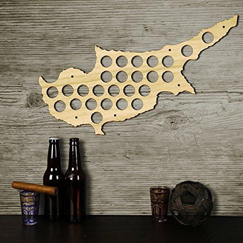 Zypern Karte Bierkarte Bier Gap Karte 109 Farben - ein Geschenk für Männer Eine lustige Geschenkidee für Bierfreunde und Geschenke für Bierfreunde & Bier Geschenke - Platz