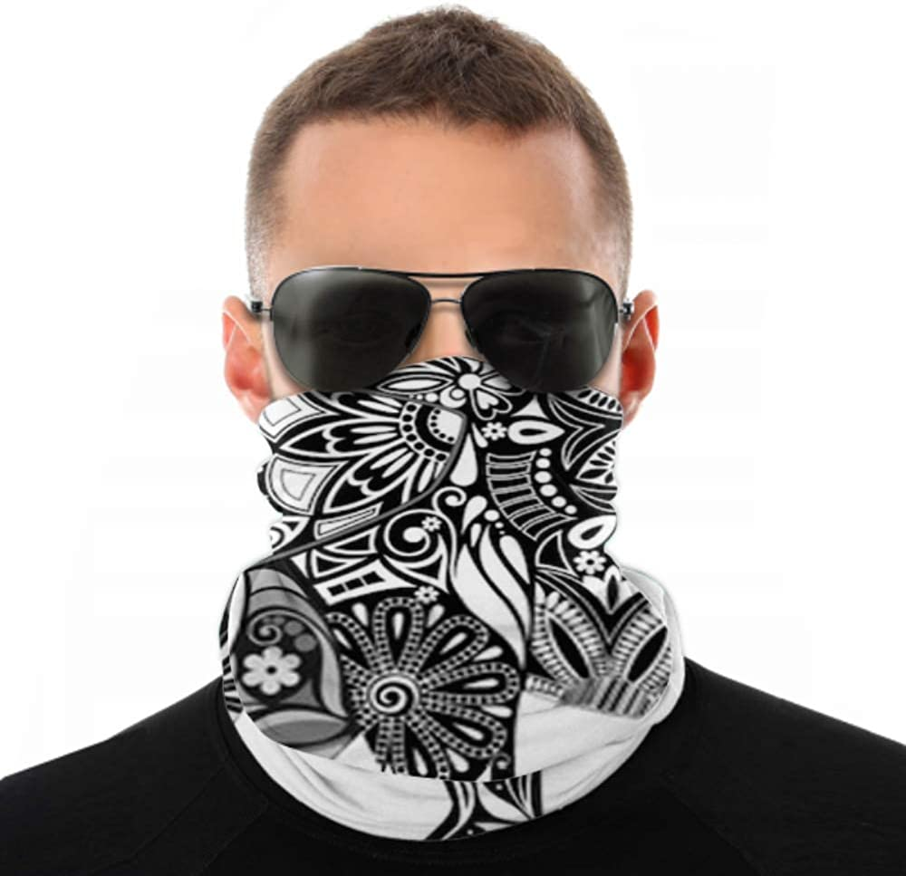 Headbands For Men Women Neck Gaiter, Face Mask, Headband, Scarf Carved Elephant Turban Multi Scarf Double Sided Print Bandana Face Mask For Sport Outdoor