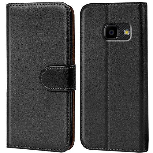 Verco Handyhülle für Samsung Xcover 4 Hülle, Xcover 4s Schutzhülle für Samsung Galaxy Xcover 4 Tasche PU Leder Flip Hülle Brieftasche - Schwarz