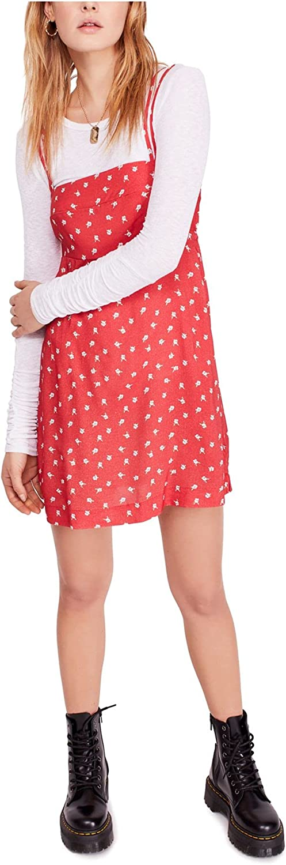 Free People Women's Wild Child Minidress, Size Medium - Red
