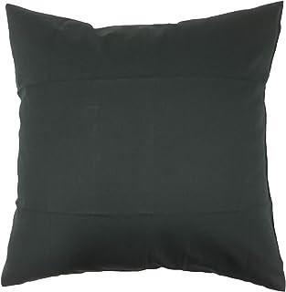 夜明屋本店 クッションカバー [35cm角] オックスフォード生地 綿100% 中厚 (35×35cm) ブラック