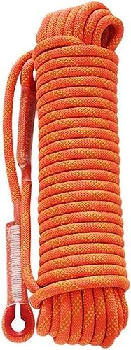 ZAIYI-Climbing rope Alpinisme Aventure Randonnée Camping en Plein Air Sécurité Anti-Glissement Porter Corde 12   14mm,Orange-50m12mm