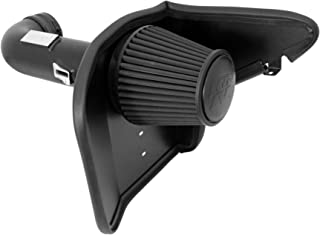 K&N Cold Air Intake Kit with Washable Air Filter: 2010-2015 Chevy Camaro SS, 6.2L V8, Blackhawk Finish w/ dry black filter, 71-4519