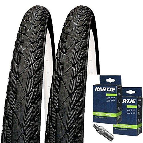 Impac Set: 2X Streetpac schwarz Reifen 20x1.75/47-406 + SCHLÄUCHE Blitzventil